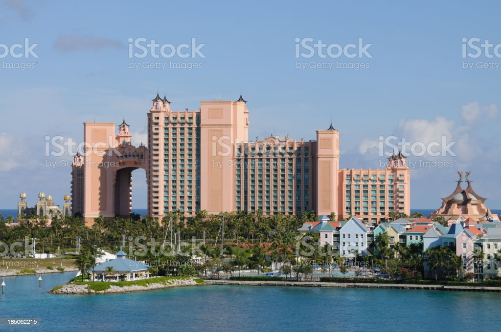 Paradise Island - hotel and apartments stock photo