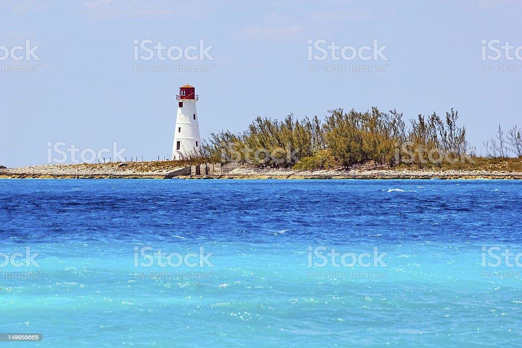 Paradise Island Lighthouse, Nassau, Bahamas stock photo