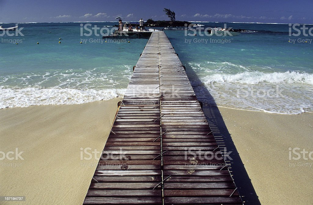 Paradise Jetty royalty-free stock photo