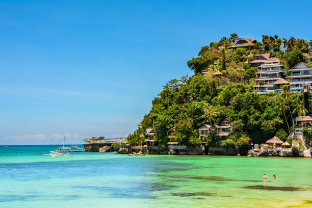 Paradies-Lagune auf Boracay, Philippinen – Foto