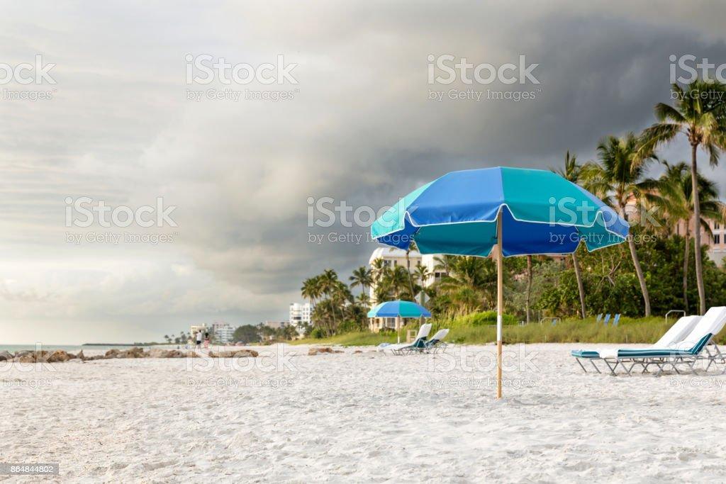 Paradise like Naples beach at sunset, south Florida, USA. stock photo