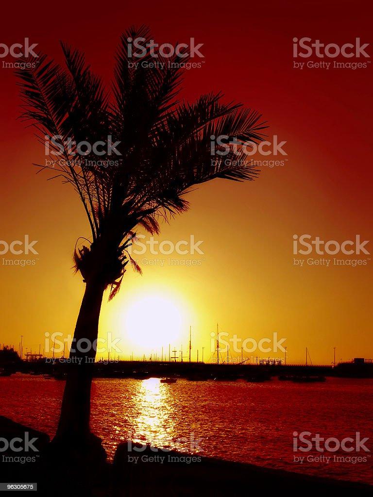 Paradise Sunset royalty-free stock photo