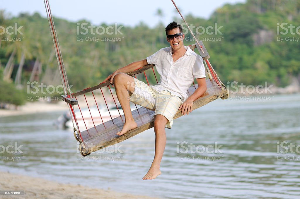 Paradise Swing stock photo