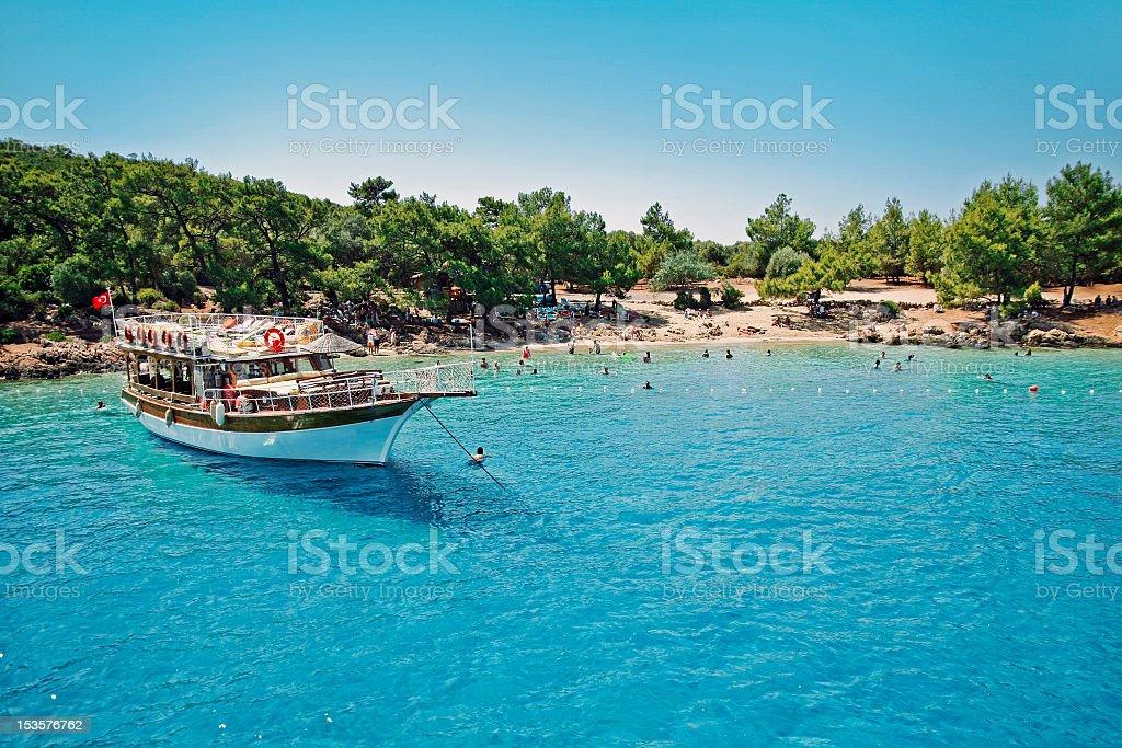 Paradise tropic island stock photo