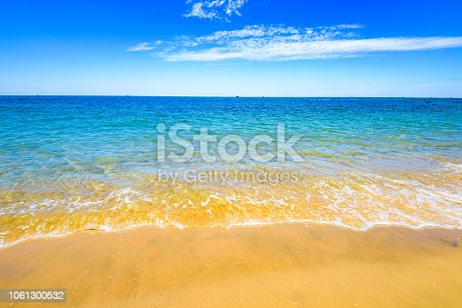 Paradise nature, sea on a tropical beach with green