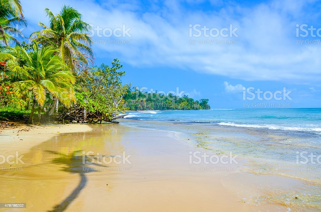 Paradise Tropical Island - Bocas del Toro - Island Colon Paradise Tropical Island - Bocas del Toro archipelago - Island Colon 2015 Stock Photo
