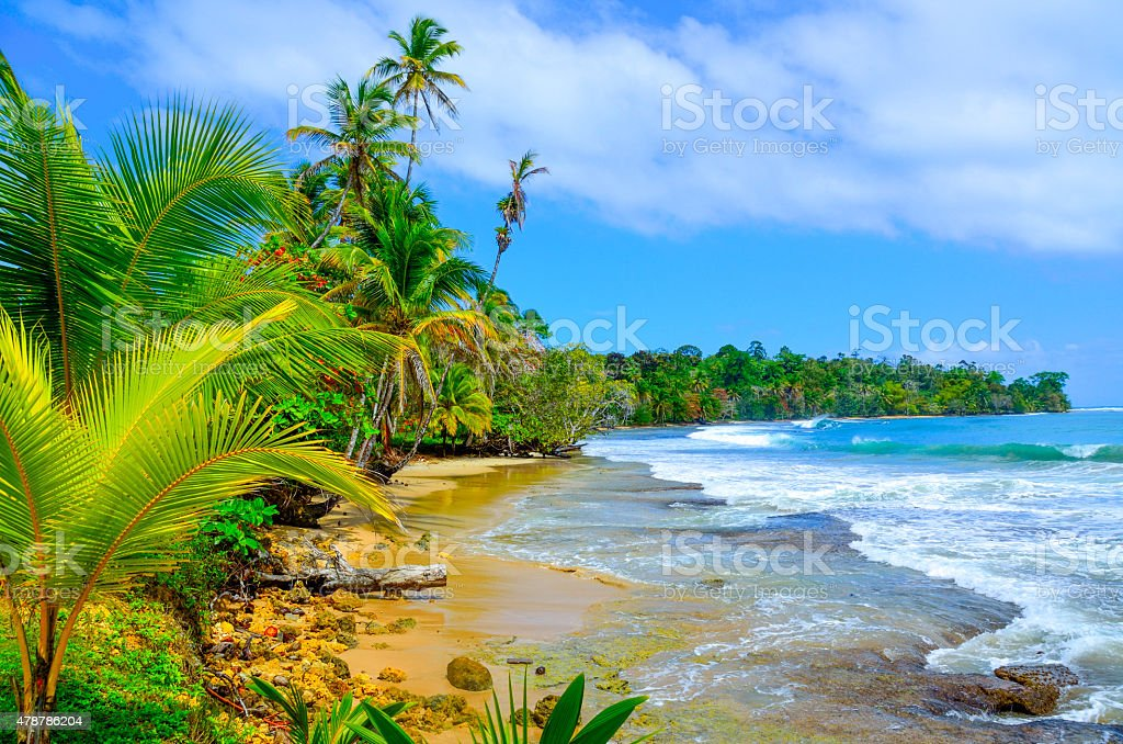 Paradise Tropical Island - Bocas del Toro - Island Colon stock photo