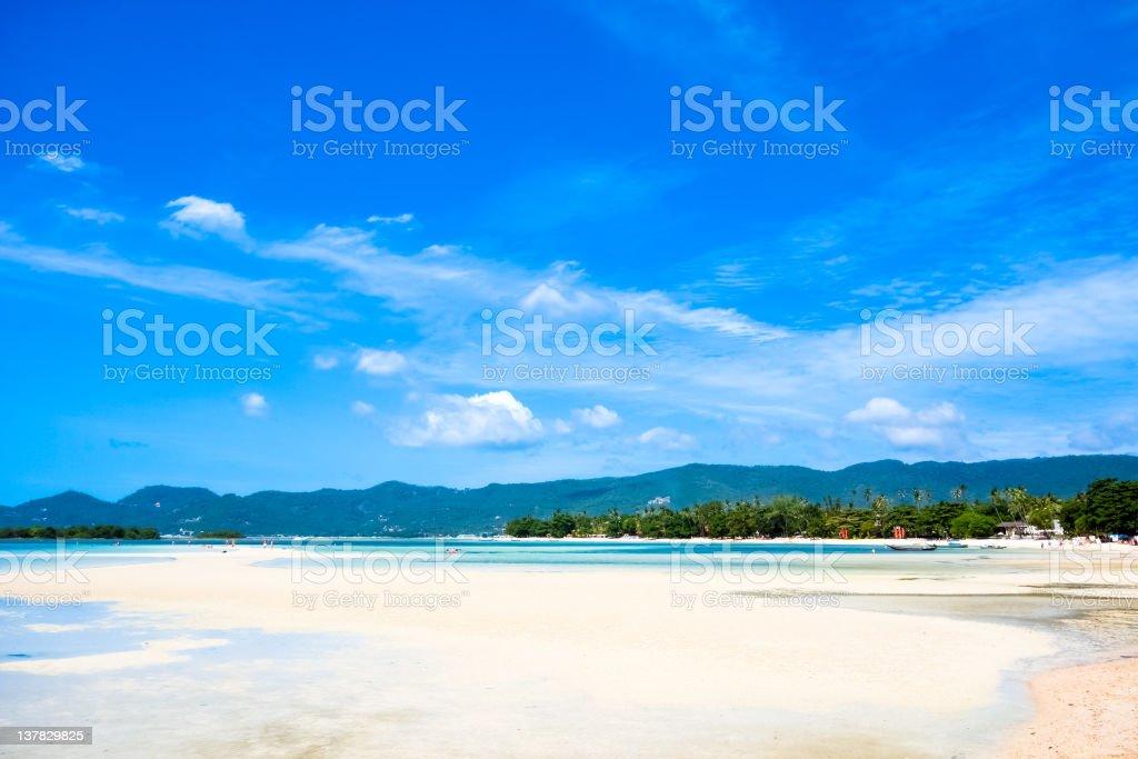 Paradise tropical island, Chaweng beach, Koh Samui, Thailand stock photo