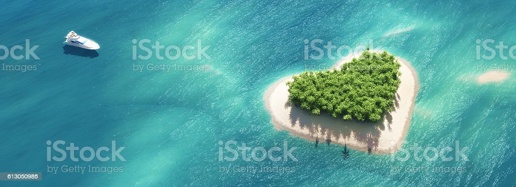 Paradise tropical island stock photo
