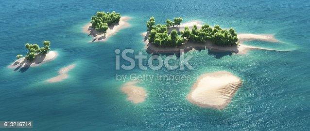 istock Paradise tropical island 613216714