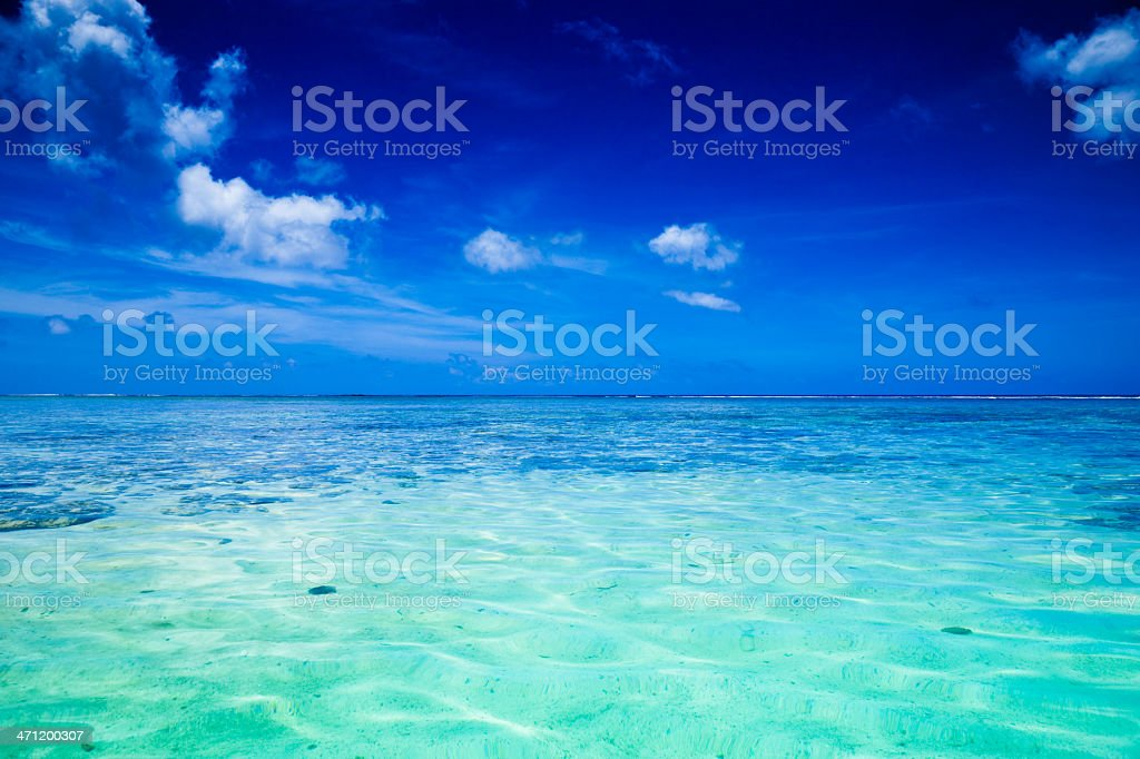 Paradise Turquoise Lagoon stock photo