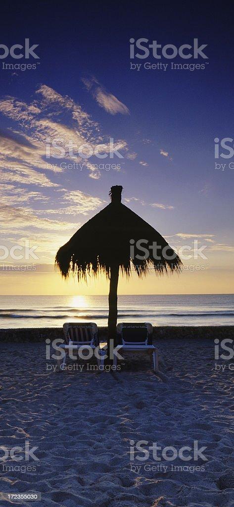 Paradise Vacation Panoramic royalty-free stock photo