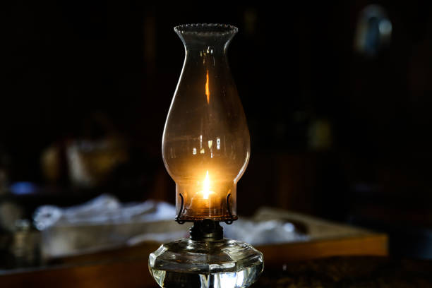 paraffin lamp stock photo