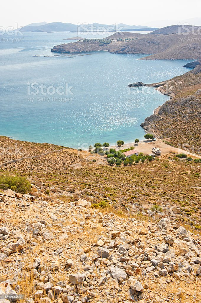 Paraga beach, vertical stock photo