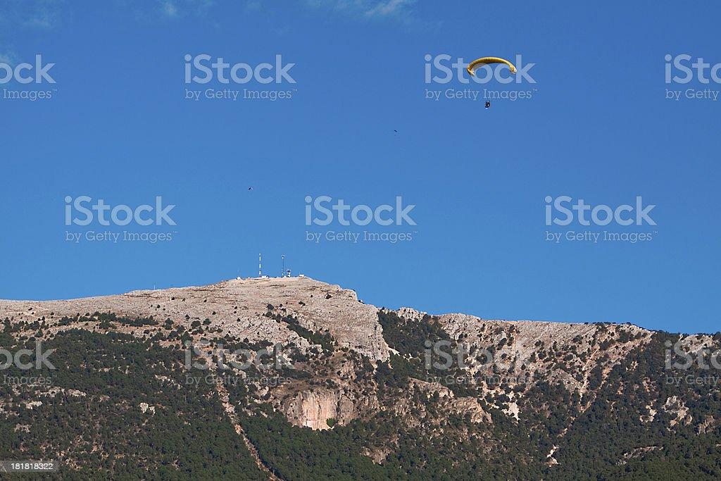 Paraglider at Cazorla mountain, Spain royalty-free stock photo