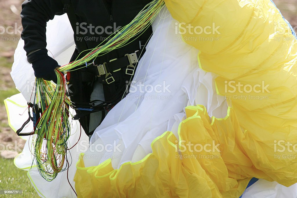 Paraglider close up - back on earth royalty-free stock photo