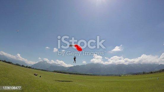 European alps in distance