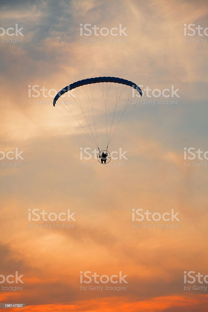 Paraglider - Feeling free on the sky royalty-free stock photo