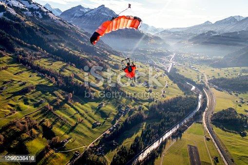 Sunny Swiss Alps below