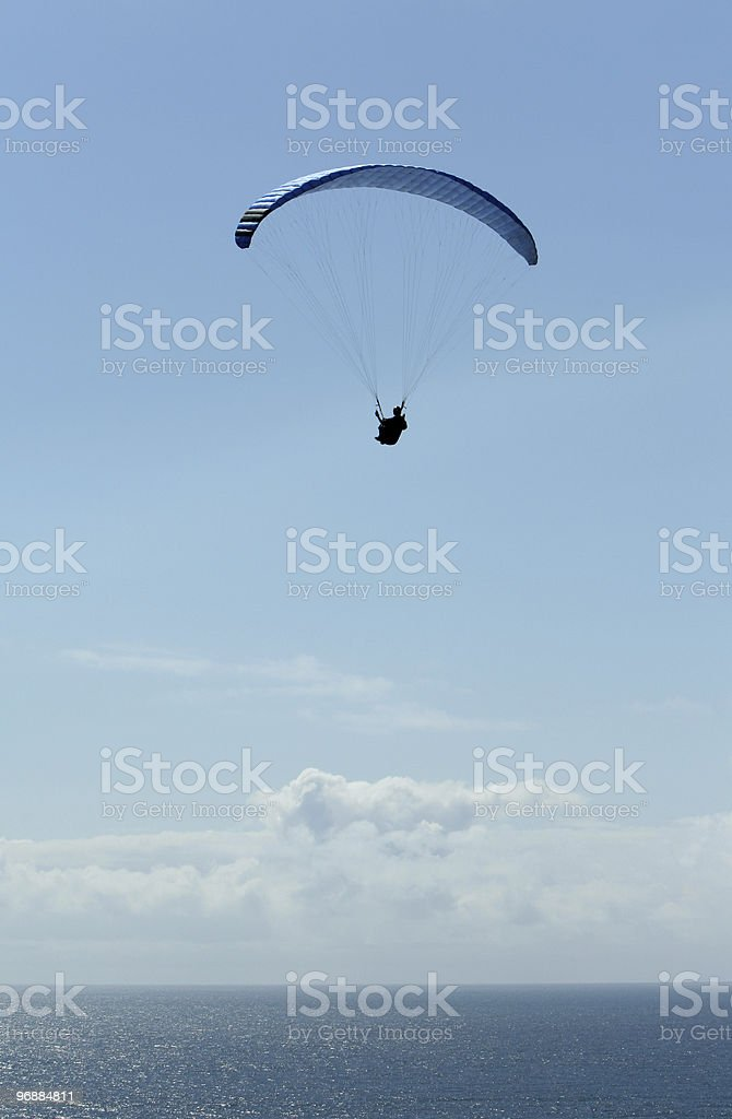 Paraglider in blue sky royalty-free stock photo
