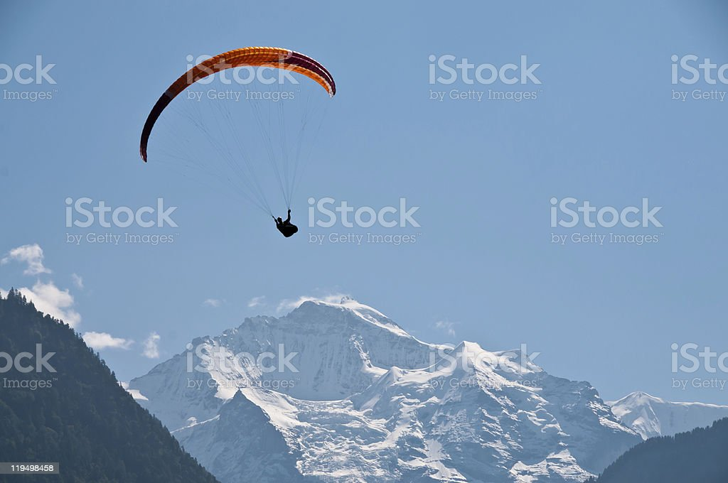 Paraglider in the mountains royalty-free stock photo