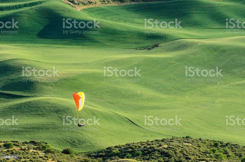 Paraglider in The Palouse stock photo