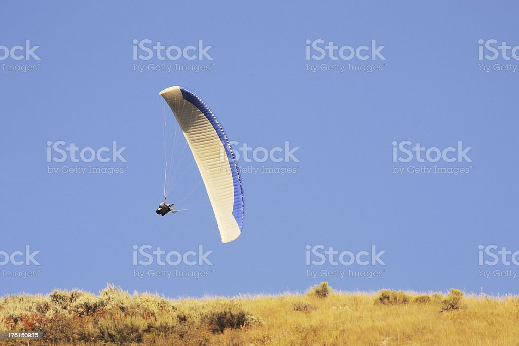 Paraglider Pilot Flight Competition royalty-free stock photo