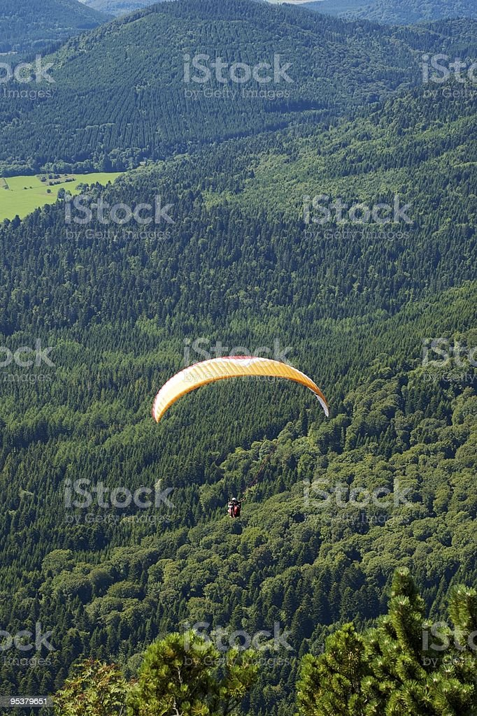 Paragliders in France stock photo