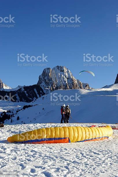 Foto de Gleitschirme e mais fotos de stock de Alpes europeus