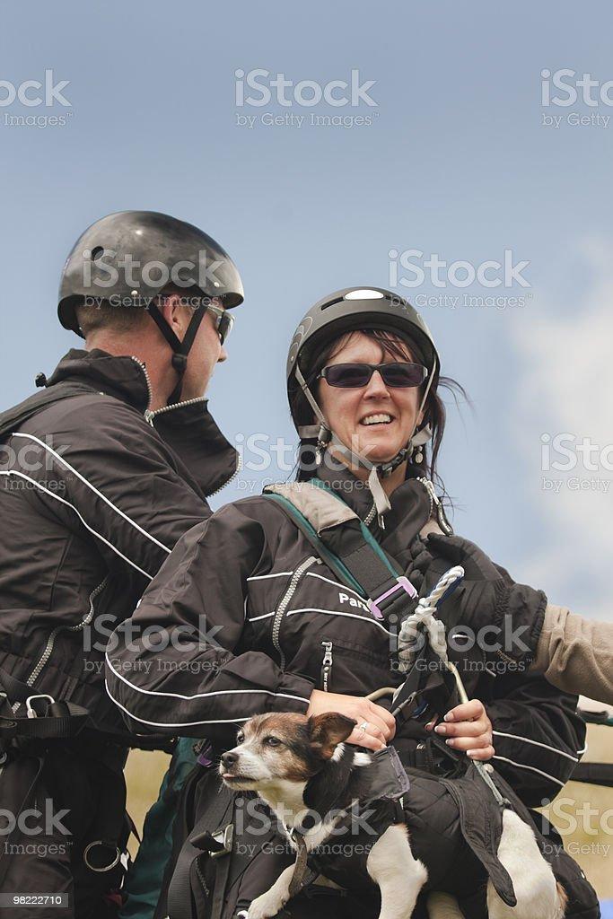 Paragliders Preparazione foto stock royalty-free