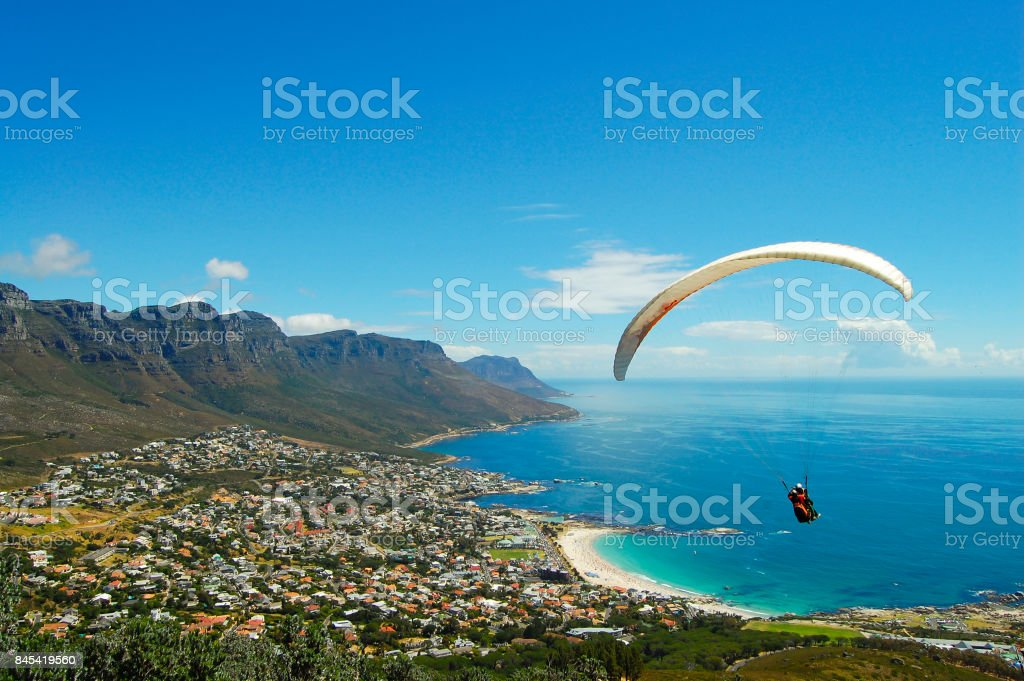 Paragliding - Cape Town - South Africa stock photo