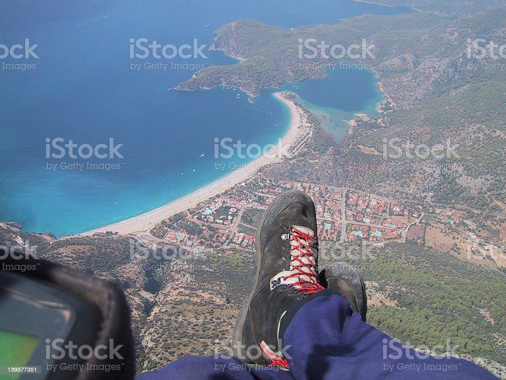Paragliding in Oludeniz royalty-free stock photo