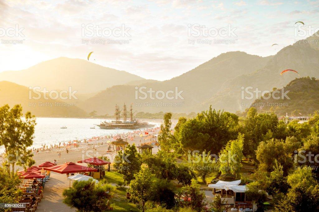 Parapente dans Oludeniz, en Turquie - Photo
