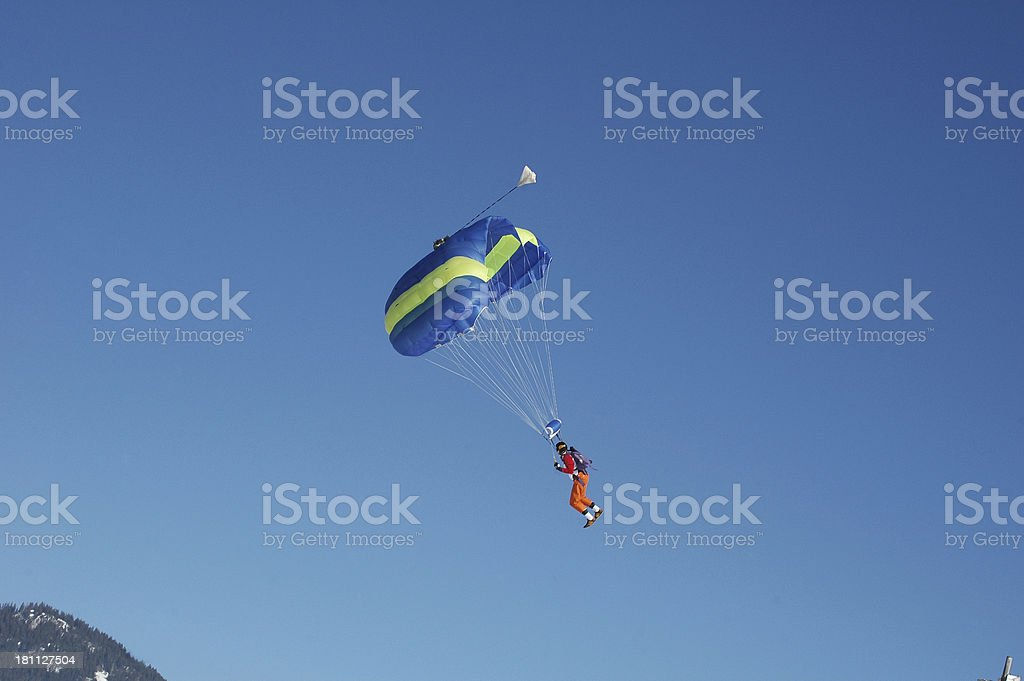 Paragliding in the Andes royalty-free stock photo