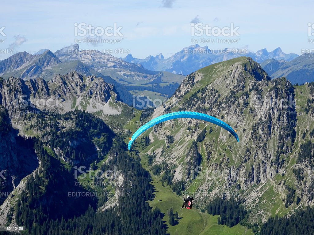 Paragliding Parapenting stock photo