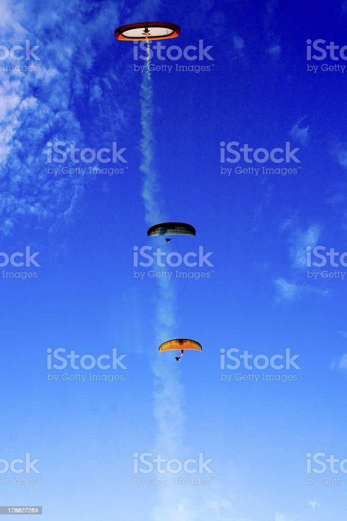 Paragliding royalty-free stock photo