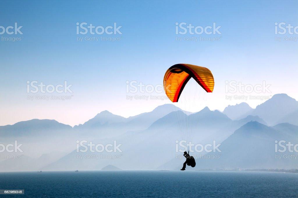 Paragliding stock photo