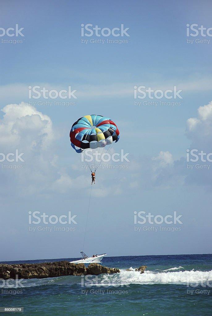 Paragliding royaltyfri bildbanksbilder