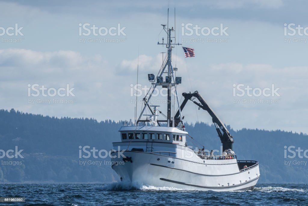 F/V Paragon returning to Seattle stock photo