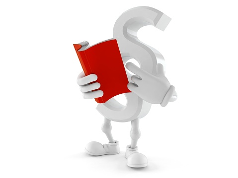 istock Paragraph symbol character reading a book 1158035933