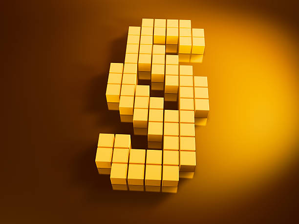 Paragraph Symbol Golden Cubes 3D Render of a Paragraph symbol with pixelated golden cubes. Very high resolution available! Use it for Your own composings!Related images: golden cube stock pictures, royalty-free photos & images
