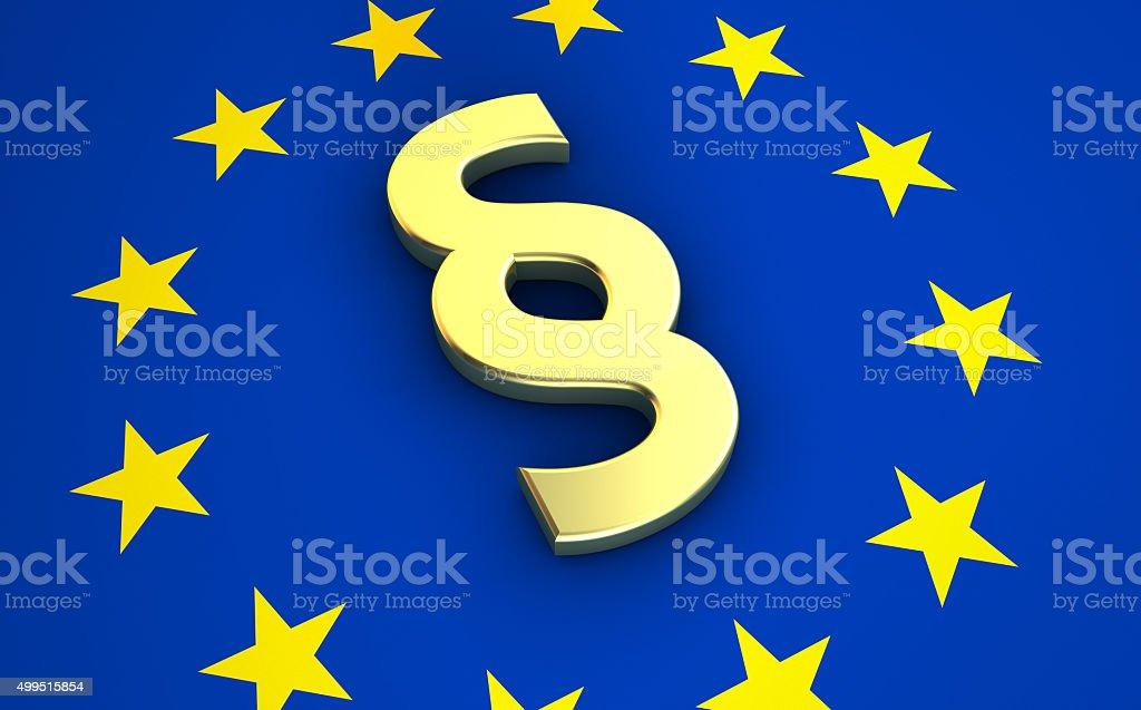 Ziffer Symbol auf EU-Flagge – Foto