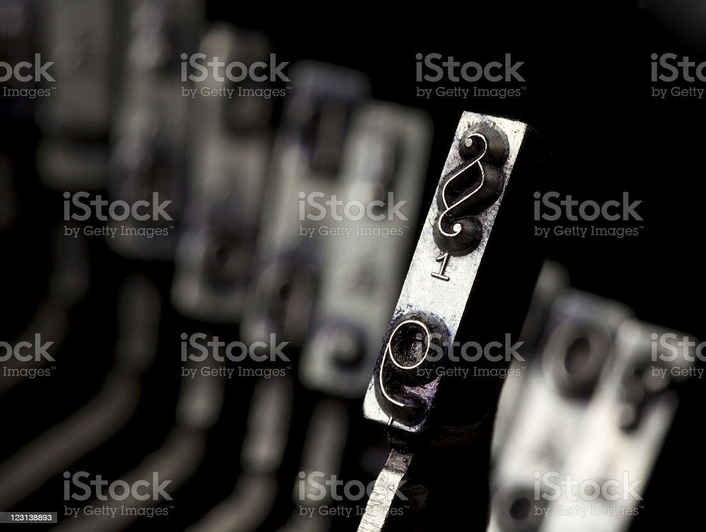 paragraph typebar stock photo