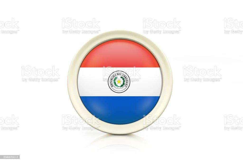 Insignia de Paraguay sobre fondo blanco - foto de stock