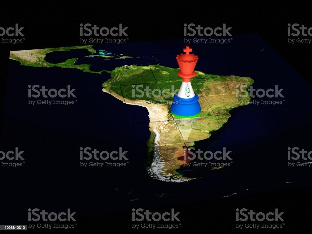 Paraguay mapa de ajedrez - foto de stock