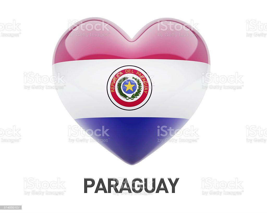 Paraguay flag heart icon stock photo istock heart shape symbol country geographic area design digitally generated image paraguay flag buycottarizona