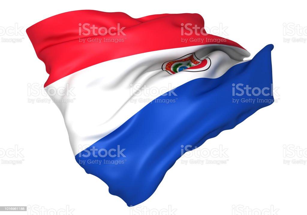 Paraguay bandera - foto de stock