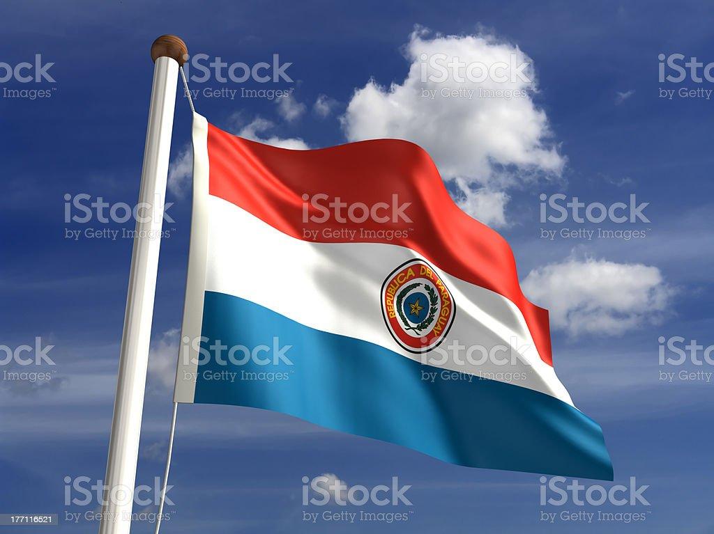Paraguay bandera (con trazado de recorte - foto de stock