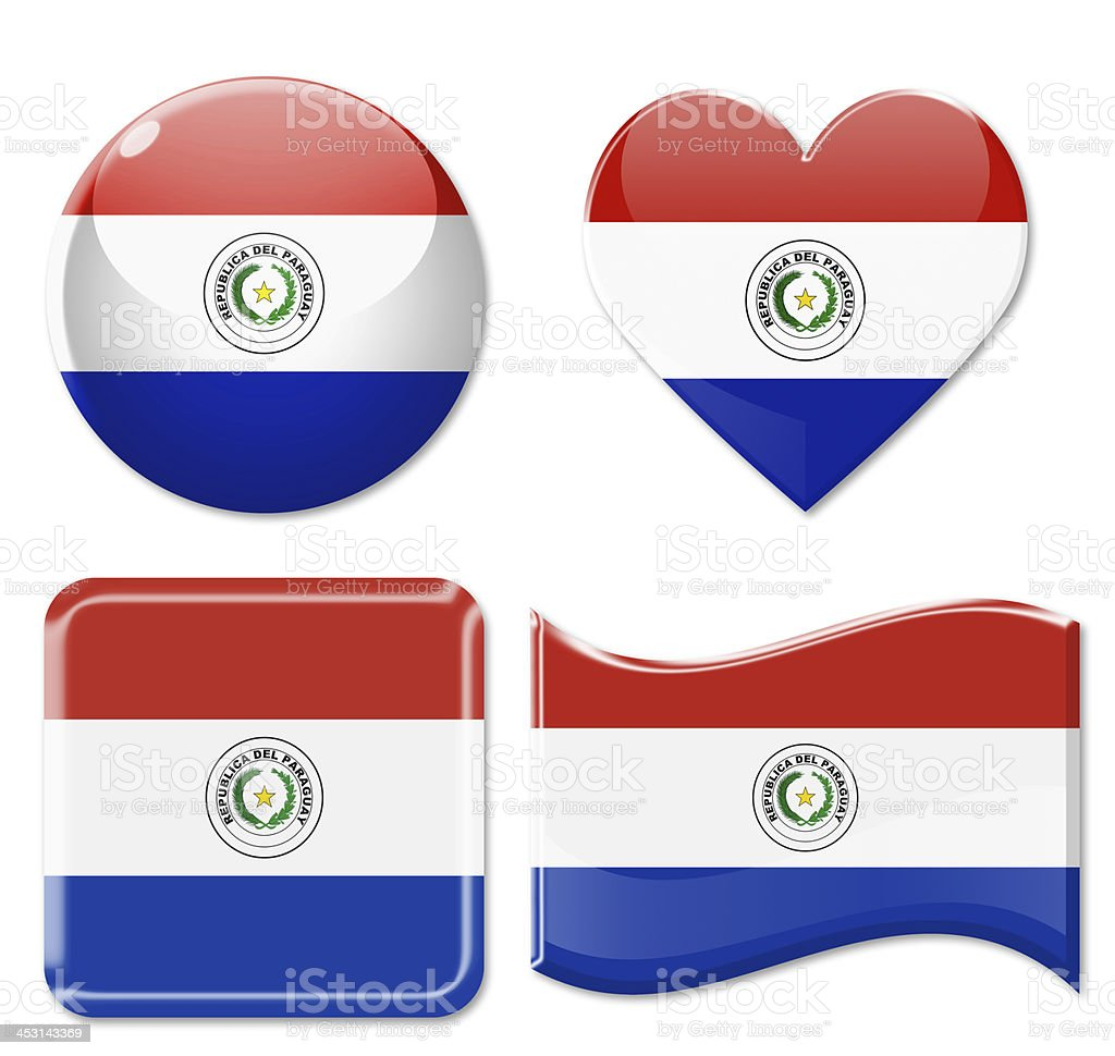 Paraguay flags icon set stock photo istock paraguay flags icon set royalty free stock photo buycottarizona