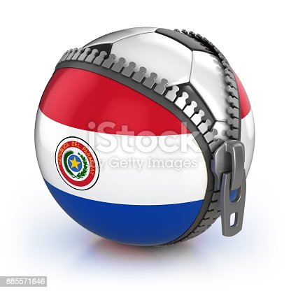 istock Paraguay football nation 3d isolated illustration 885571646